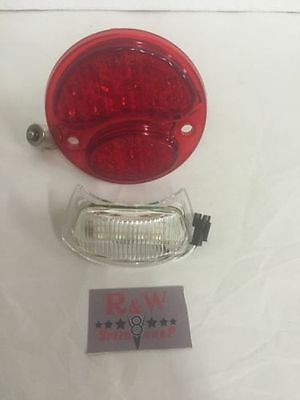 New Ford Model A LED Taillight Conversion 1928-1931 License Stop Light Insert