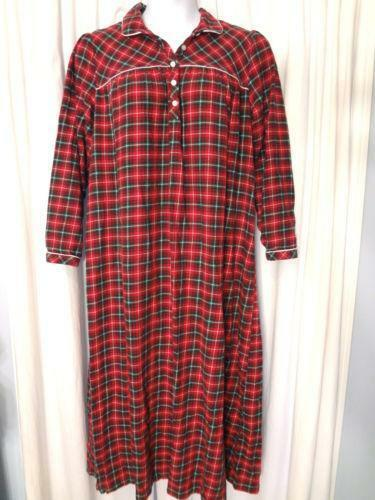 Plaid Flannel Nightgown  Sleepwear   Robes  e5254385a