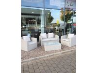 GREY RATTAN PATIO SOFA TABLE CHAIRS !!! garden decking paving shed sun room conservatory furniture