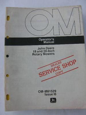 John Deere Operators Manual 18 20 In Rotary Mowers I6