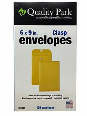 """Quality Park Clasp Envelopes 6x9"""" Brown 150 Count"""