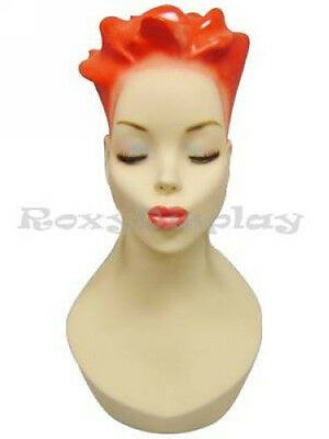 Free Shipping Female Mannequin Head Bust Vintage Wig Hat Jewelry Display #Y4