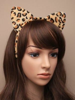 ANIMAL EARS HEADBAND ALICEBAND FANCY DRESS COSTUME UNISEX KID ADULT HALLOWEEN UK