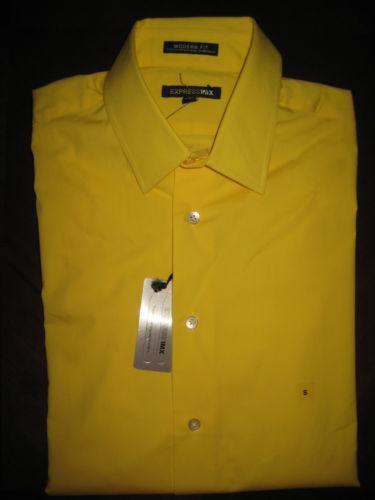 Bright Yellow Mens Dress Shirt Ebay