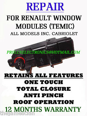 RENAULT MEGANE 2 CC TEMIC WINDOW MODULE FULL REPAIR SERVICE SA</em>...