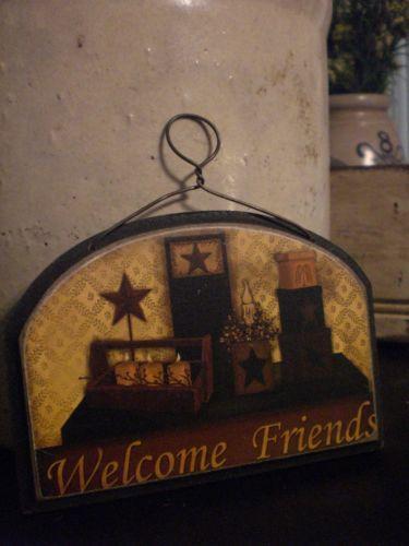 Primitive Welcome Sign | eBay