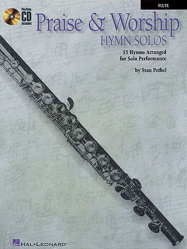 Praise And Worship Hymn Solos Learn to Play Church Flute Sheet Music Book & CD