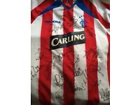 First Team Signed Rangers Away Shirt 03/04 with Certificate of Authenticity