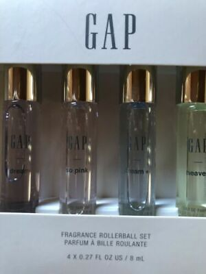 GAP Fragrance Rollerball Set 4 X 0.27 oz Travel Size So Pink~Dream~Heaven~Dream+