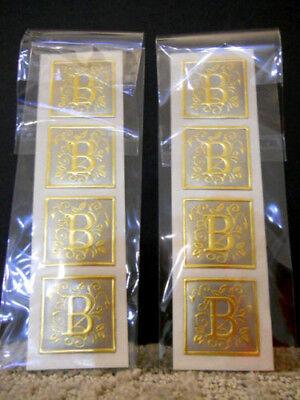 Fossler Foil Seals For Gift Wrap Tags Place Cards Envelopes 2 Pks Letters (Gold Foil Wrapped Gift)