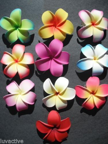 Hawaiian Hair Flowers Ebay