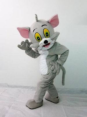 Tom and Jerry Mascot Costume Suit Halloween Party Game Fancy Dress Adults Outfit - Halloween Tom And Jerry Games