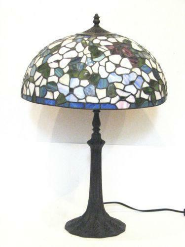 antique stained glass table lamp ebay. Black Bedroom Furniture Sets. Home Design Ideas