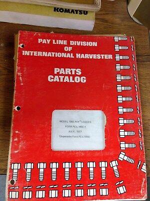 International Harvester Ih 100e Pay Loader Parts Catalog Manual
