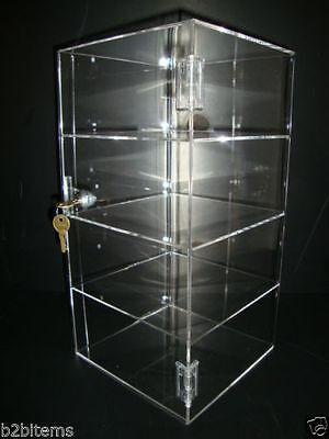 "Acrylic Countertop Display Case 8"" x 8"" x 16"" Locking Security Show Case Safe B"