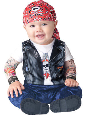 Boy Infant Halloween Costumes (Toddler Biker Gang Infant Boys Halloween)