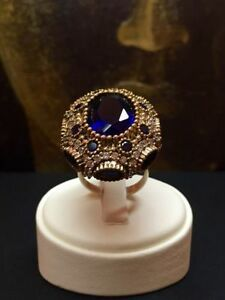 Beautiful HANDMADE 925 Sterling Silver Sapphire Topaz