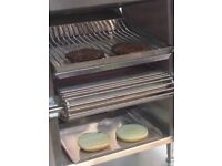 BURGER GRILL/BROILER BURGER MACHINE AUTOMATIC GRILL CONVEYOR GRILL FOR CHEESE BURGER CHICKEN FILLET