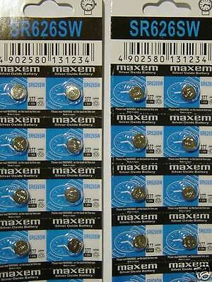 40 Baterias relojes   AG4 377A 377 LR626 SR626SW SR66 LR66 376  Watch Battery