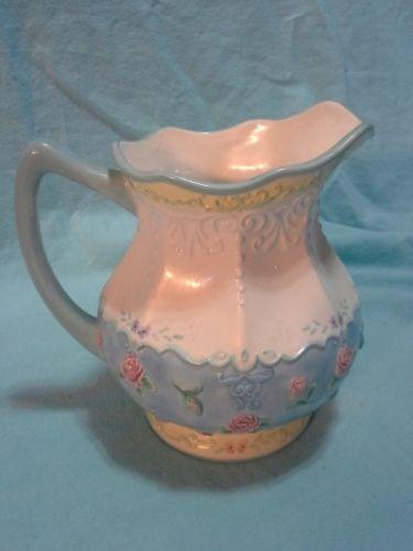 White Ceramic Pitcher Ebay