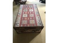 Carpeted Trunk/Coffee Table/Chest/Storage-Excellent for living room RRP:£1625