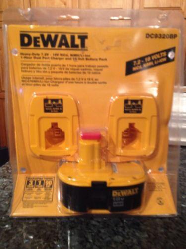 DeWALT Dc9320bp 7.2-18v Dual Port Charger + Dc9096 Batter...
