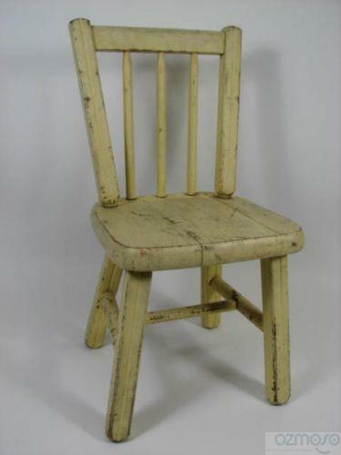 Vintage Wooden Child Chair Ebay