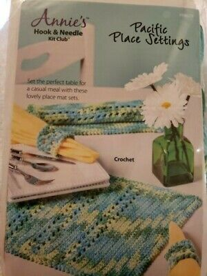 Annie's Hook and Need Club PACIFIC PLACE SETTINGS Crochet Kit HNK059