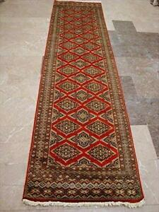Love Burnt Orange Jaldar Wool Silk Hand Knotted Carpet Runner Rug (10 x 2.6)'