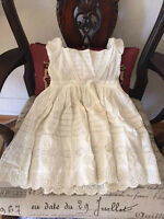 Antique exquisite baby christening gown - museum piece