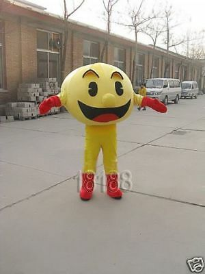 Special offer!PAC-MAN adult mascot costume for Party  Size:63-67-71-74inch (Adult Pac Man Costume)