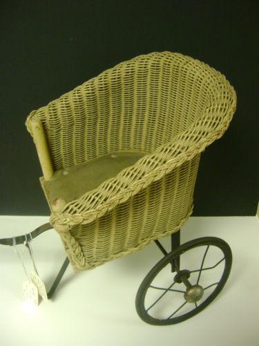 Two Wheel Dolly >> Vintage Wicker Doll Carriage | eBay