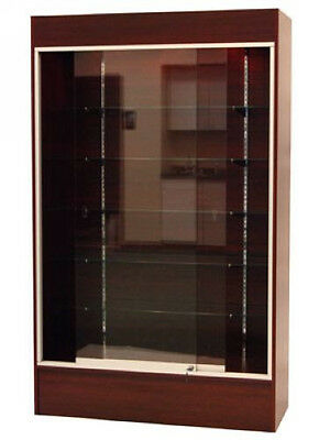 Wall Cherry Knocked Down Display Show Case Wlights Wc4c-sc