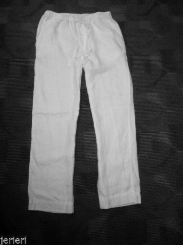 Mens Linen Beach Pants Ebay