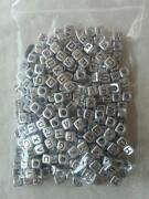 Silver Letter Beads