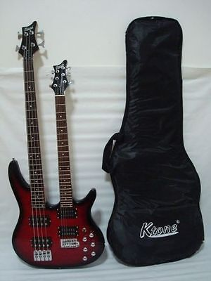 Ktone 6/4 String Electric Double Neck Guitar with Padded Gig