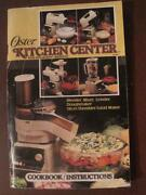 Oster Kitchen Center Cookbook