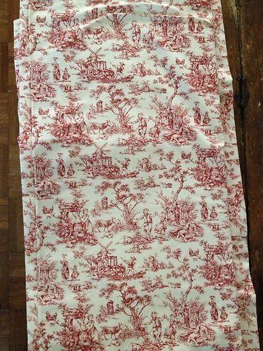 Red Toile Curtains Ebay