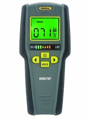 Moisture Meter Pinless Digital Lcd With Tricolor Led Bar Graph Non Invasive
