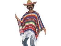 Mexican fancy dress sombrero poncho