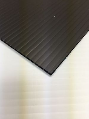 10 Pcs 6mm Black 18 In X 12 In Corrugated Plastic Coroplast Sheets Sign