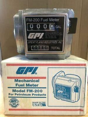 Gpi Mechanical Fuel Meter 111200-20 Fm200 Galul34npt Free Shipping