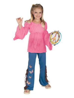 Woodstock Child Feelin' Groovy 60s Hippie Child Costume -- Size Medium 8-10 (Hippie Child Costume)