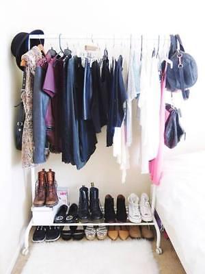 IKEA RIGGA Clothes rack, Single Pole Telescopic Clothes Rack / Dryer - White for sale  MUMBAI
