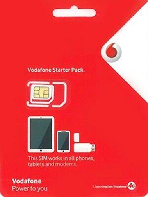 Vodafone Australian Pre Paid Sim Card 3G 4G Australia