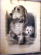 Antique Charcoal Drawing
