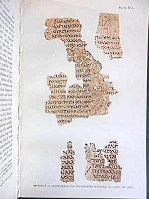 1899 1st PALAEOGRAPHY OF GREEK PAPYRI Wrting, Ancient Greece, Egypt, Archeology