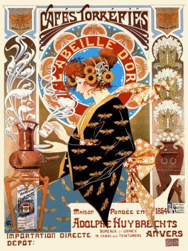 Vintage Coffee Poster Ebay