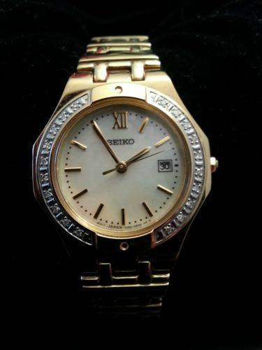 Seiko Gold Plated Watch Ebay