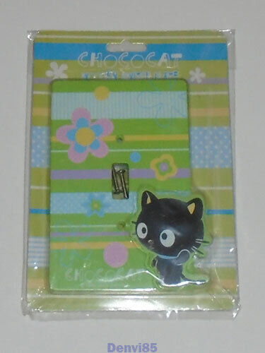 VERY HTF! 2006 Sanrio CHOCOCAT Wooden Switch Plate/Cover! NEW!